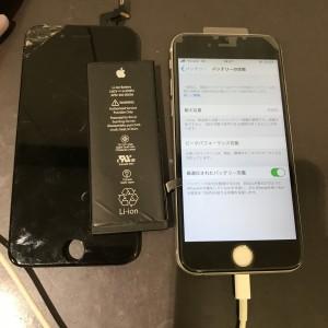 アイフォン6s バッテリー交換 画面修理