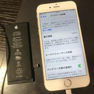 アイフォン6s バッテリー交換