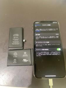 アイフォンX バッテリー交換
