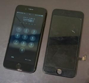 iphone8 水没 画面交換