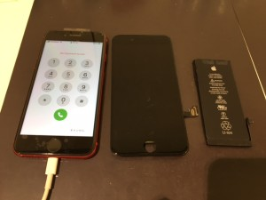 iphone8 水没復旧作業