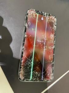 iphoneX 画面割れ、液晶故障修理