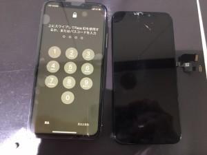 iphoneXS 画面割れ交換