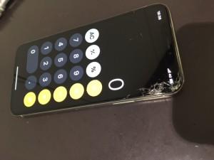 iphonex 画面割れ交換