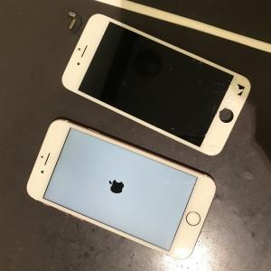 iPhone6s ディスプレイ修理かんりょう