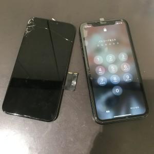 iPhone11 画面液晶修理かんりょう