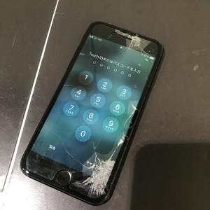 アイフォン8 画面割れ