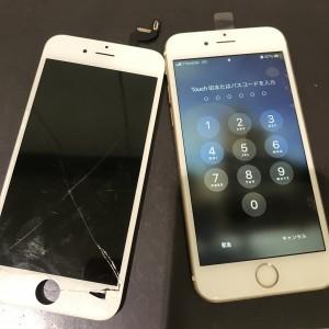アイフォン6s 画面修理かんりょう!