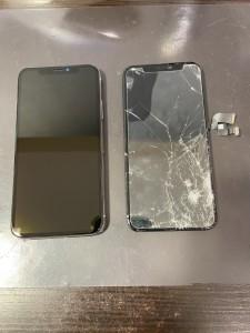iphoneXEMAX 画面割れ交換修理