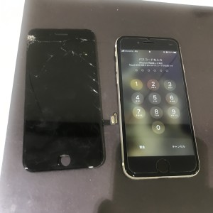 アイフォン7 フロントパネル交換修理