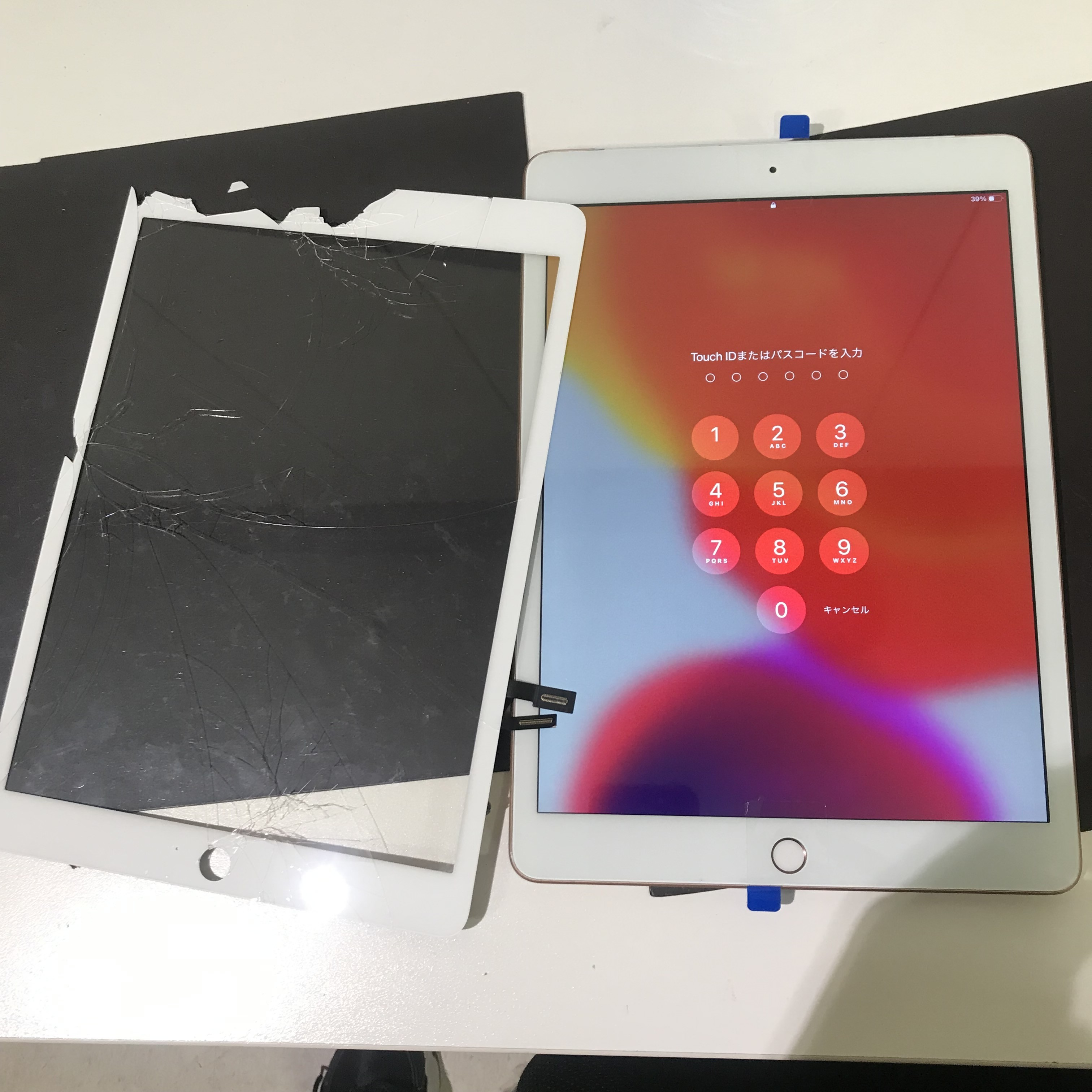 iPad7世代 フロントパネル修理