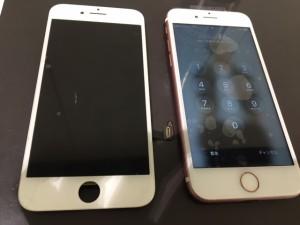 アイフォン7 画面割れ交換修理