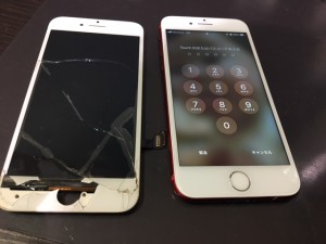 iPhone7 画面割れ交換修理
