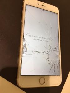 iphone6splus 画面割れ交換修理