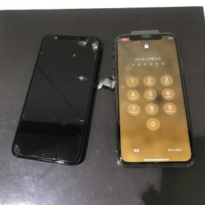 アイフォンX 液晶元通り
